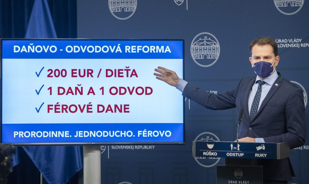 Kam sa podela Matovičova reforma daní a odvodov? V rozpočte zahrnutá nie je